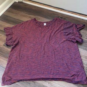 Old Navy Striped Flutter Sleeve T-shirt